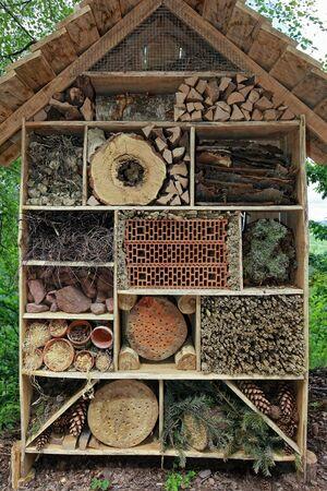 hatchery: Insektenhotel Stock Photo