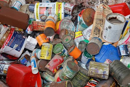 déchets dangereux, peintures et vernis