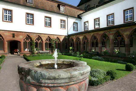 cloister: Cloister Augustinian Church Landau Stock Photo