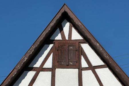 half timbered house: Tudor style house