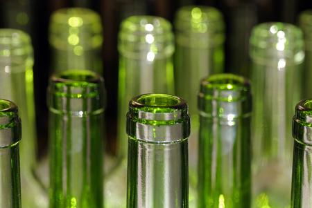 bottlenecks: Wine bottles Stock Photo