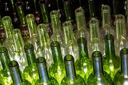 Lege wijnflessen