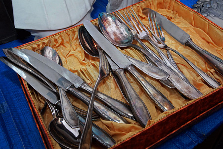 Cutlery, flea market Reklamní fotografie