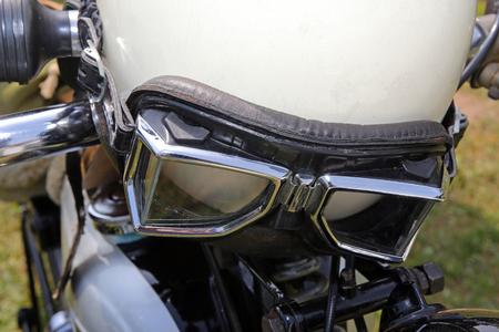 motorcycle goggles Stockfoto