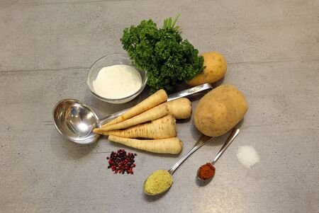 Ingredients for a soup