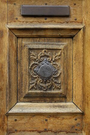 Ornament on an old door