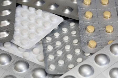 Tablets in blister packaging Standard-Bild