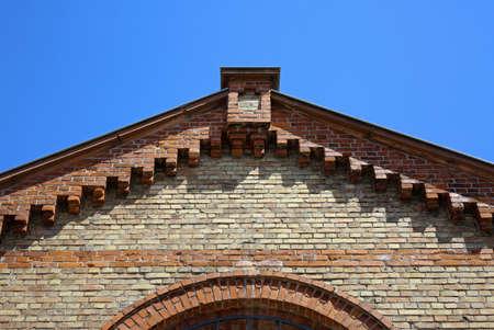 Roof gable, brick house