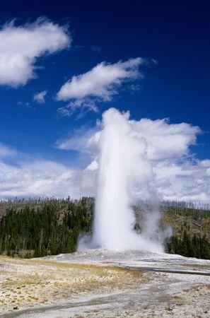 Eruption of hot flow height 60 meters