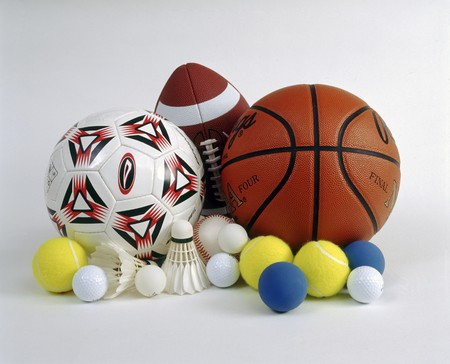Sports balls for soccer, basketball, rugby, tennis