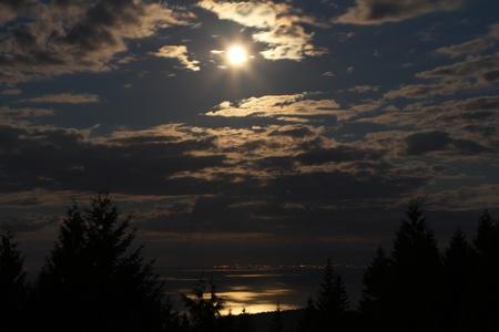 Moonlit strait