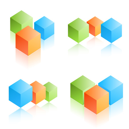 stacked: Colorful cubes