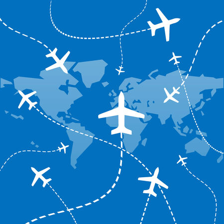 Airplane network Vector