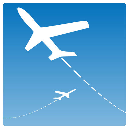 Airplane silhouettes Vector