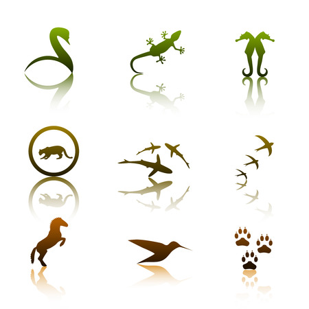 Animal logos Stock Vector - 3235963