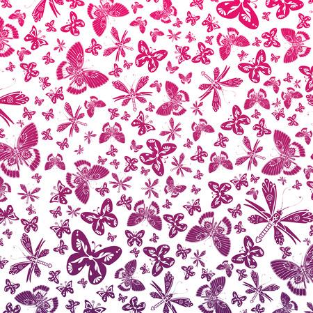 Vector wallpaper of butterflies Stock Vector - 4269666