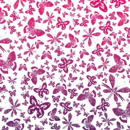 arthropod: Vector wallpaper of butterflies