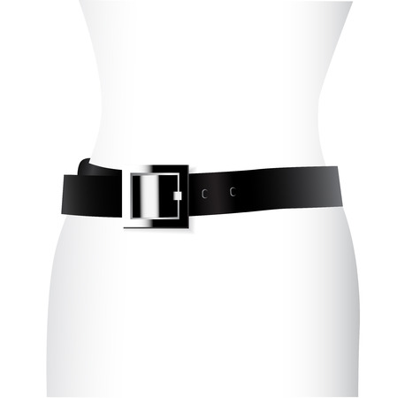 leather belt:  Vector leather belt Illustration
