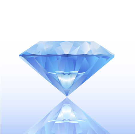 Blue diamond illustration Illustration