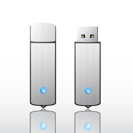 flash drive: Metallic usb flash drive
