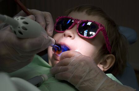Child visit at the dentist