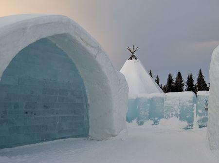 Ice hotel i Sweden