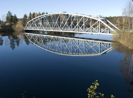 autmn: Bridge in the scandinavian autmn