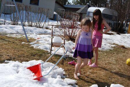 Kids in the spring photo