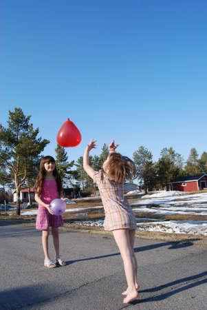 Kids in the spring Stock Photo - 4816553