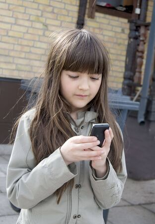 Beautiful girl with mobiltelephone