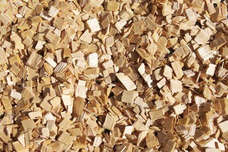 New wooden sawdust natural backgrund photo