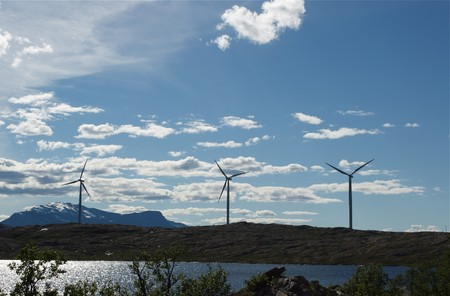 Wind power in  in the north of Sweden Stock Photo - 7548467