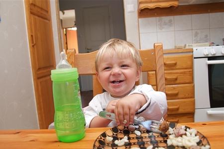 Baby Eating Food Stock Photo - 10519324