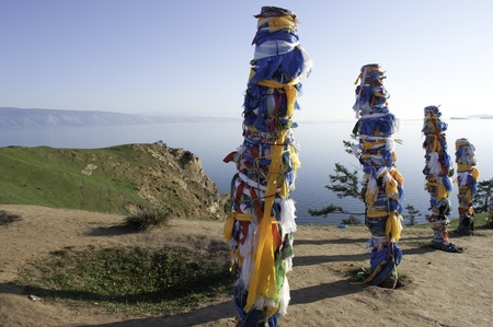 shamanism: Bajkal, Olhon island Stock Photo