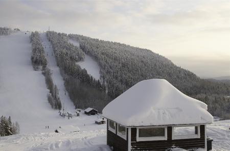 slalom: Storklinten slalomie górskim, styczeń Zdjęcie Seryjne