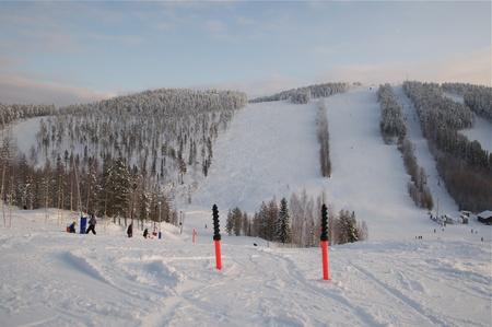 slalom: Góra slalom Storklinten, januari