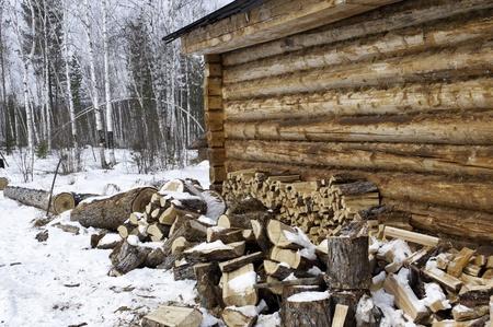 Russian wood house photo