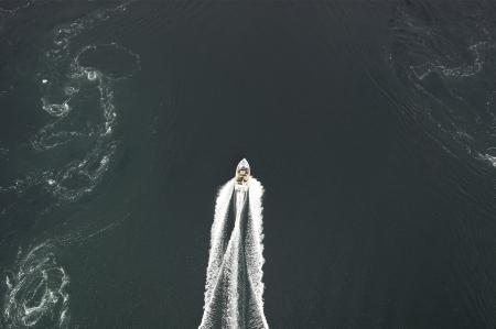 Boat on Saltstraumen photo