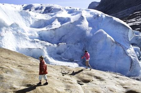 Glacier Svartaisen in Norway in summer photo