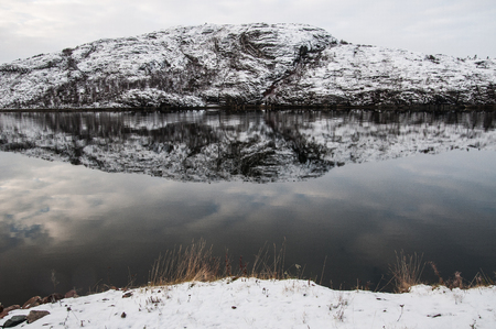 arctic waters: Finnmark, north of Norway Stock Photo