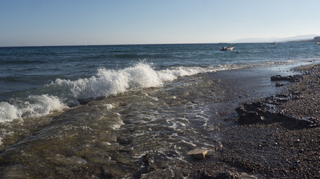 Stoes beach in Rgodes, Greece
