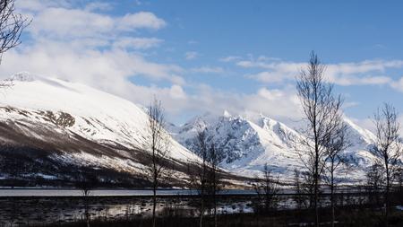 Mountains in Norway fjord, Troms