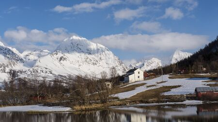 Village in the north of Norway Stock Photo