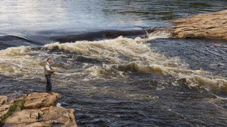 Fishing in Scandinavia , river in Juoksengi