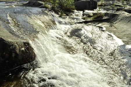 Storforsenm waterfall in the north of Sweden