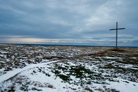 北のノルウェー、フィンマルク、ヨーロッパ大陸の北端部に位置