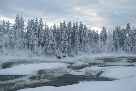 storforsen, waterfall in Swedish Lapland Фото со стока