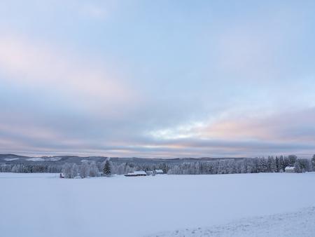 Swedish Lapland in winter Фото со стока