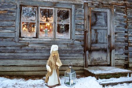 market horse winter Фото со стока