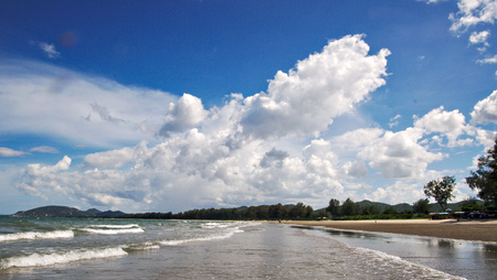 Cloudy sky in Thailand, sea paradise in Huahin